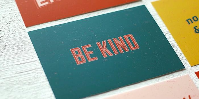Love Bound be kind postcard