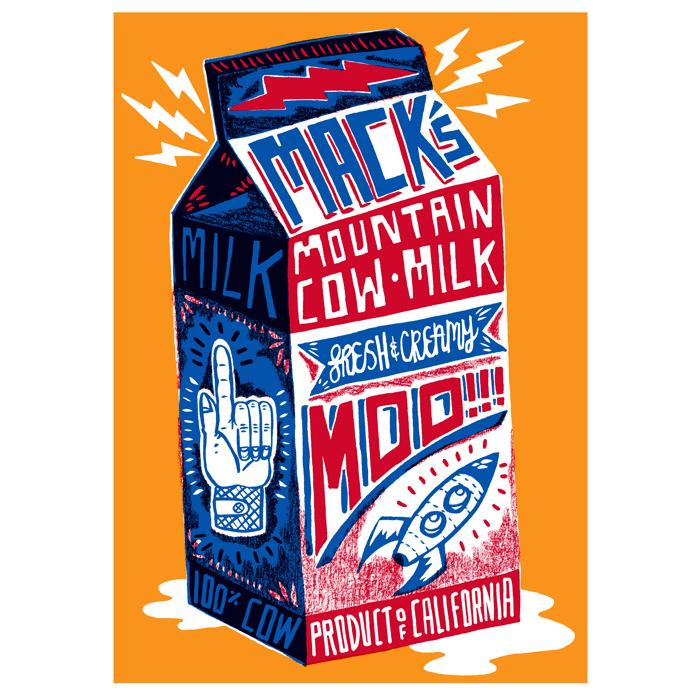 Milk carton design by Charlie Gould