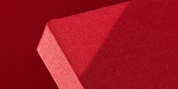 red cloth hardcover notebook