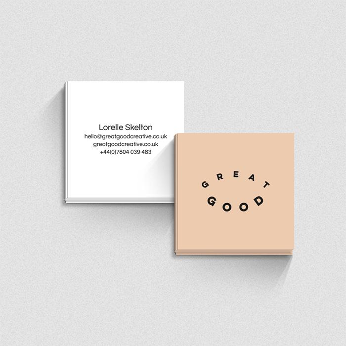 Great Good minimalist business cards
