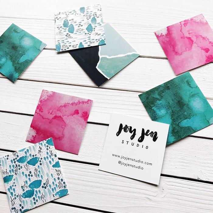 Joy Jen business card designs