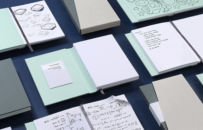 MOO notebooks with Swiss binding