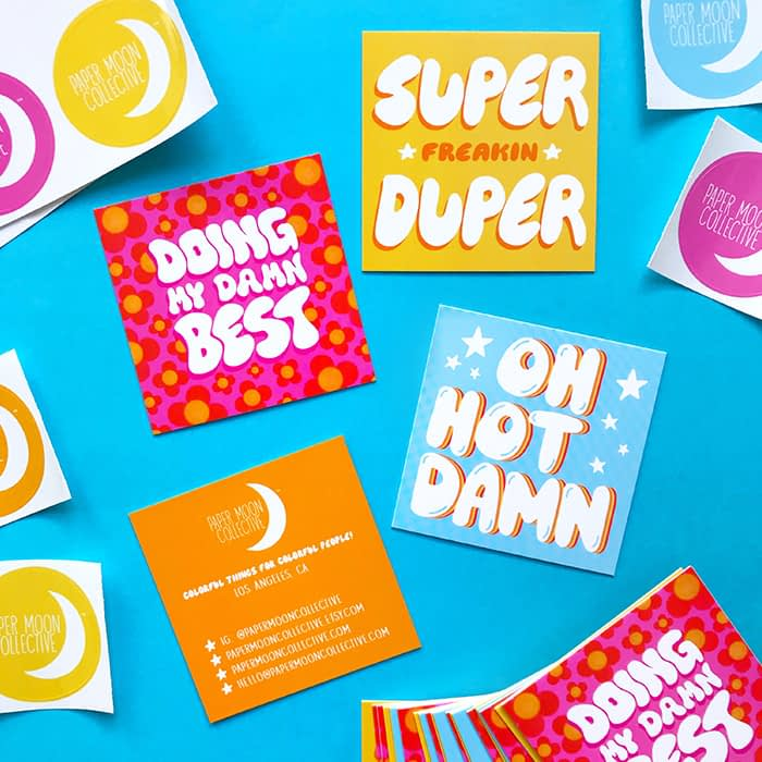 Papermoon collective square business cards