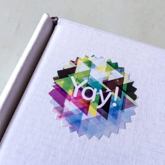 Packaging Insert MOO Yay Sticker