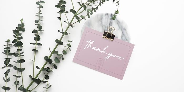 Carla Prato thank you card design