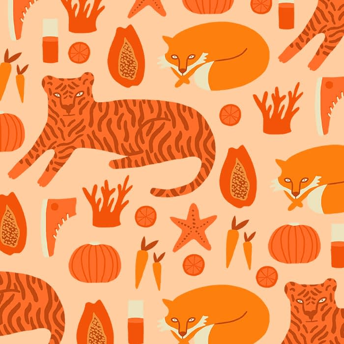 Orange pattern Melanie Johnsson