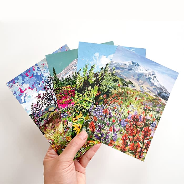 Anisa Asakawa landscape and mountain cards