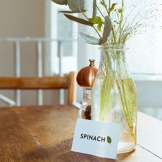 Spinach restaurant business card
