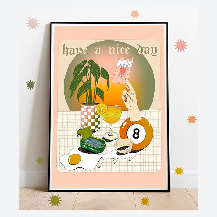 Have a nice day art print by arose.garden