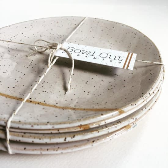 Bowl Cut Ceramics with mini business card