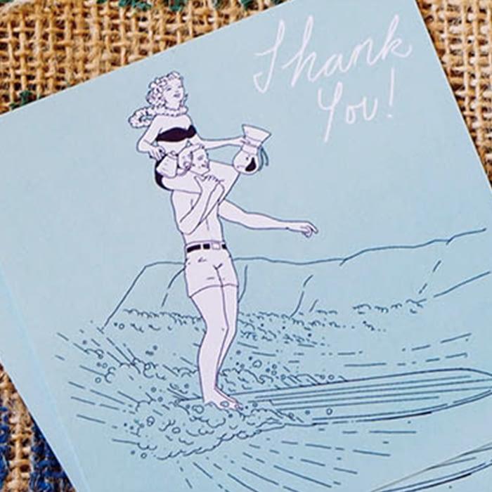 Latigo thank you card