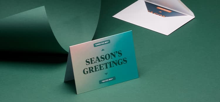 Holiday Greeting Card and envelope