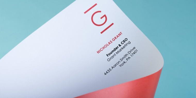 Example of letterhead design