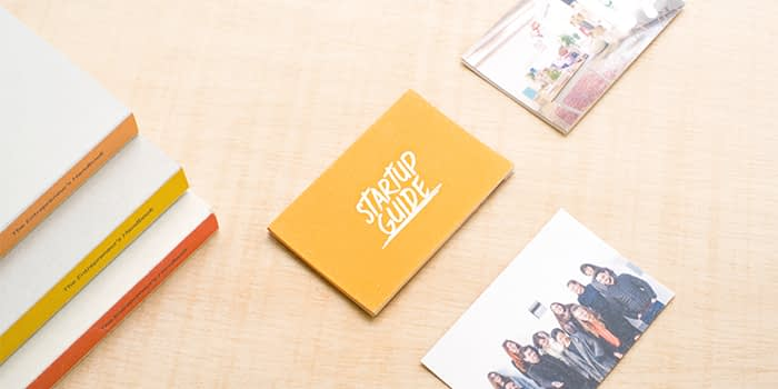 Startup guide business cards