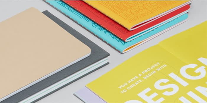 MOO hardcover and soft cover journals that make good work notebooks for organization