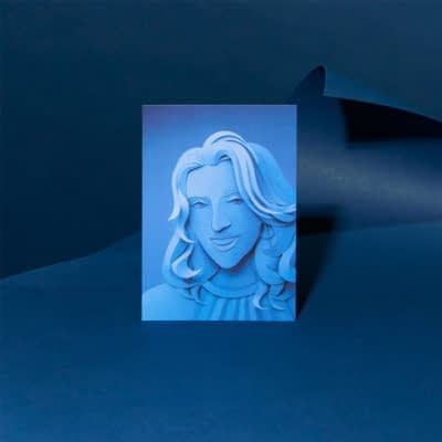 Gail Armstrong's self portrait in Pantone's Color of the Year Classic Blue