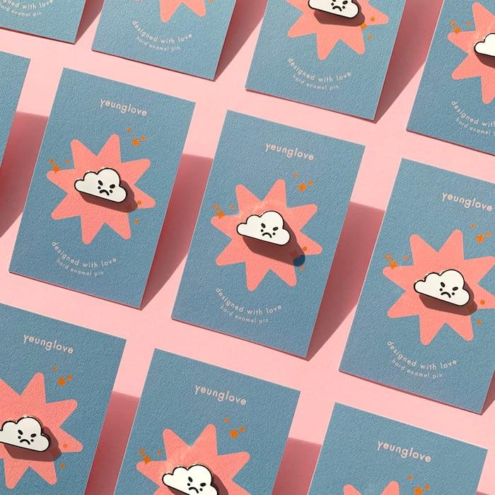 Yeung Love pin backer cards