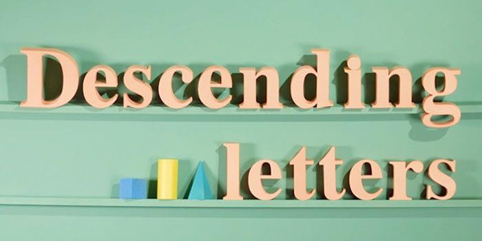 descending letters