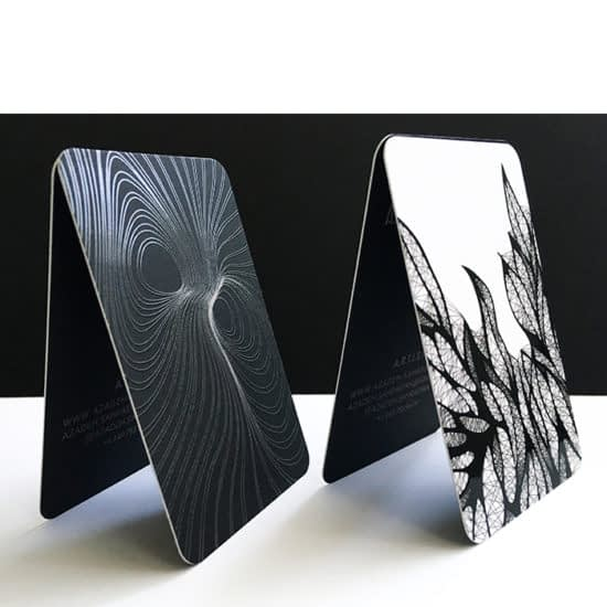 Azadeh black and white cards