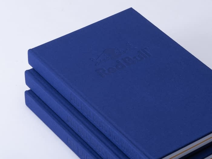 Redbull blue hardcover notebook