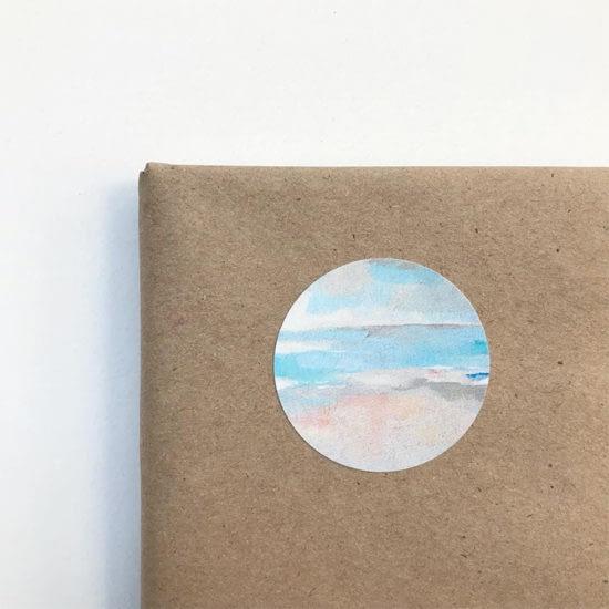 Art by Megan sticker on packaging