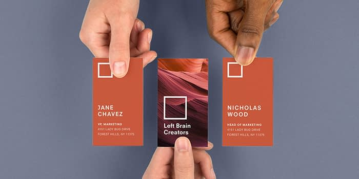 Information on business cards