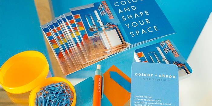 Colour + Shape postcards