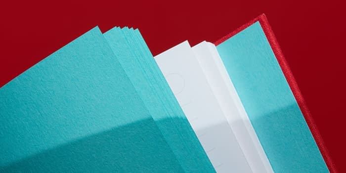 colored pages in hardcover journal
