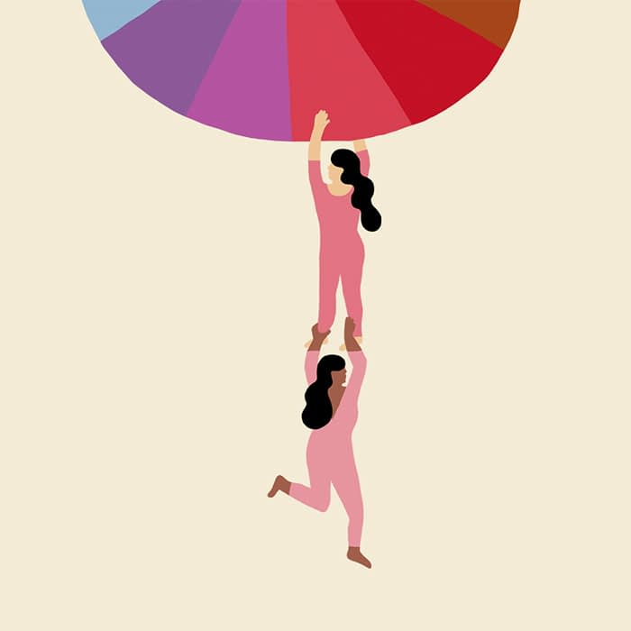 People hanging to a color scheme Melanie Johnsson