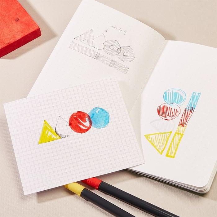 Bauhaus logo brainstorming process