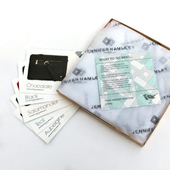 Jennifer Hamley prints labels and postcards through MOO