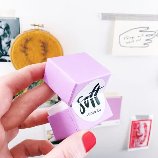 Soft Gold Co using MOO Stickers