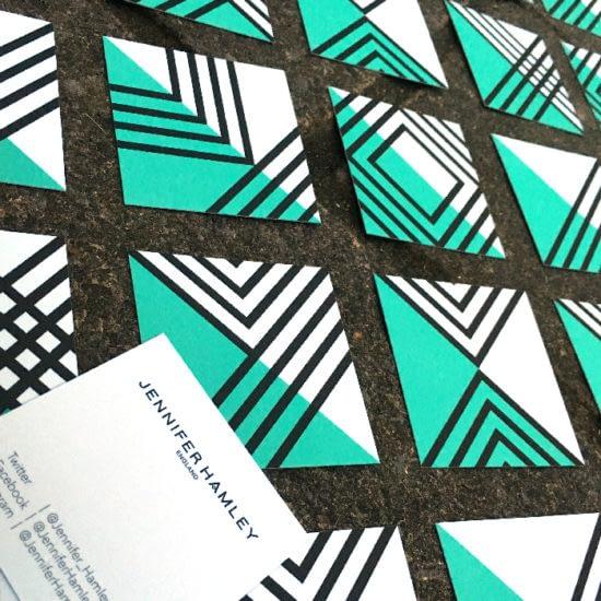 Jennifer Hamley's Squared Business Cards