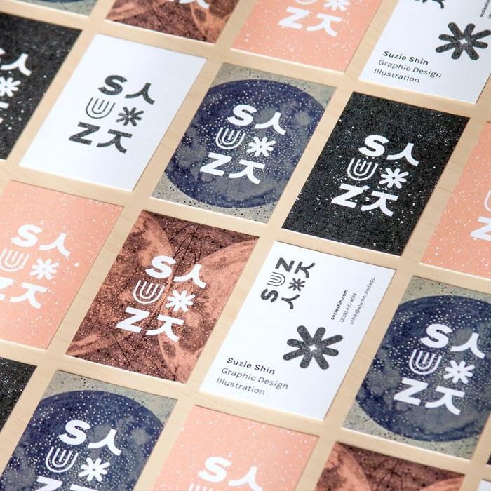 Mosaic of Suzie Shin Business Cards
