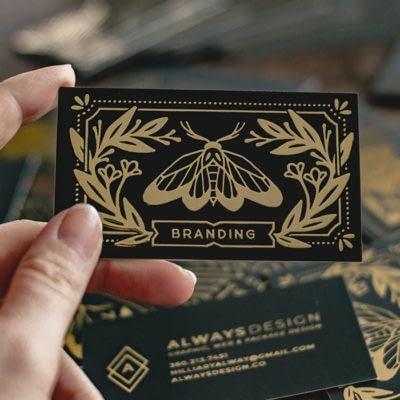 Always design gold business card