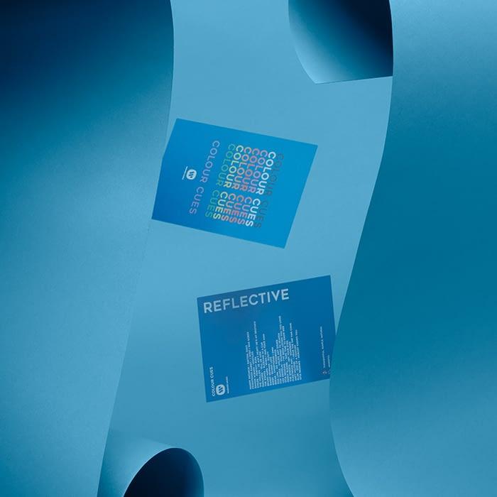 blue color cue playlist cards
