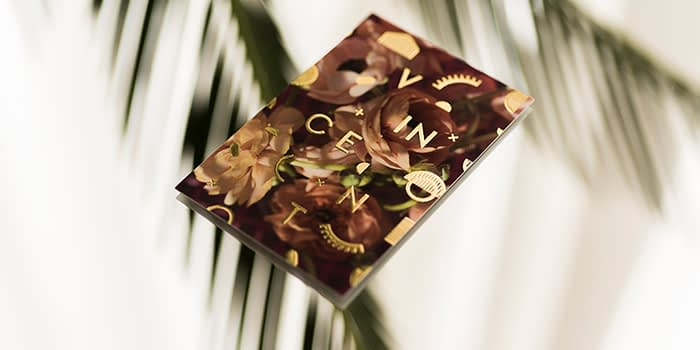 House of Vincent gold business card
