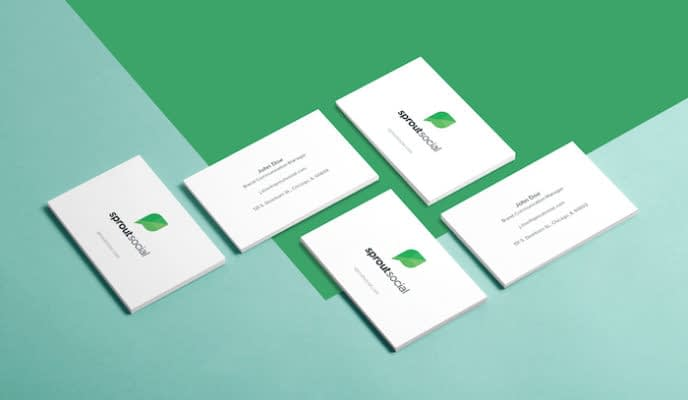 Sprout Social business cards