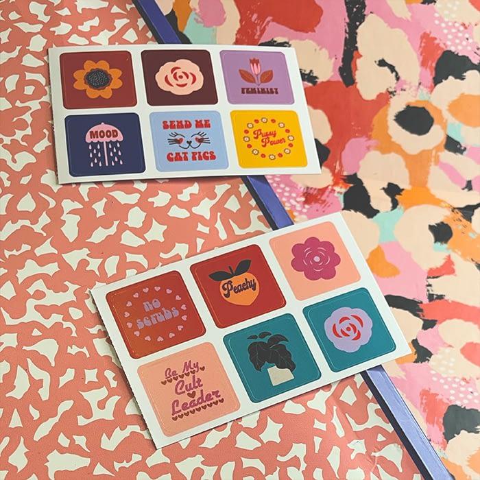 Sad Girl Illustration vintage inspiredsticker sheets by Amy Leigh