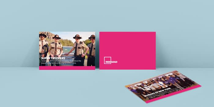 Indiegogo marketing materials