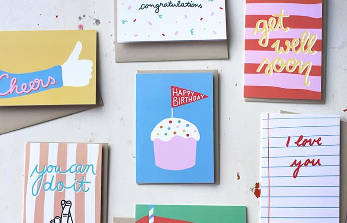 Oh the colour greeting cards