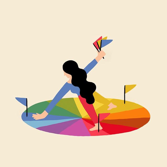 Color wheel as people Melanie Johnsson