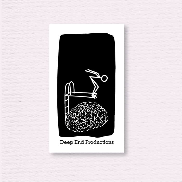 Deep End Productions luxe business cards