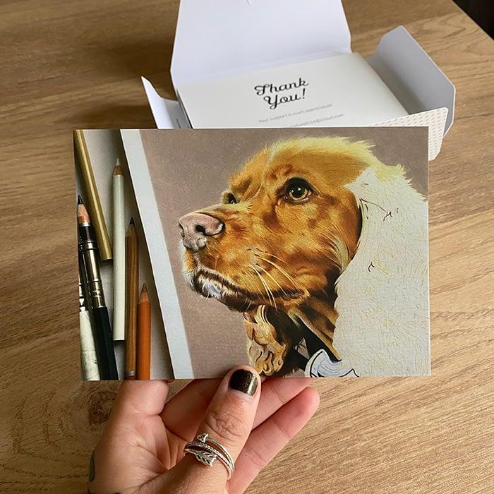 Dog postcard by Hayley Smith