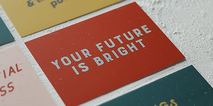Love Bound your future is bright card