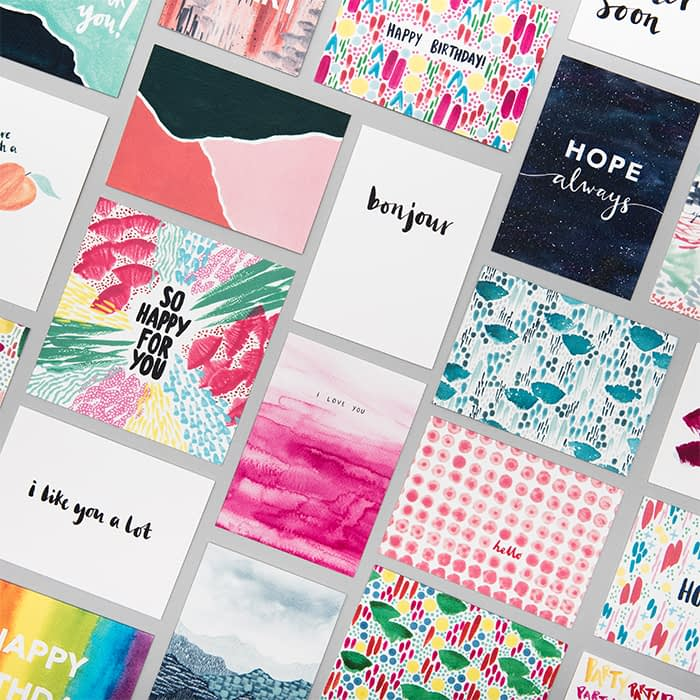 Joy Jen various postcard designs