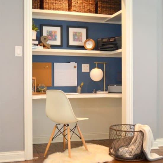 Closet office at home