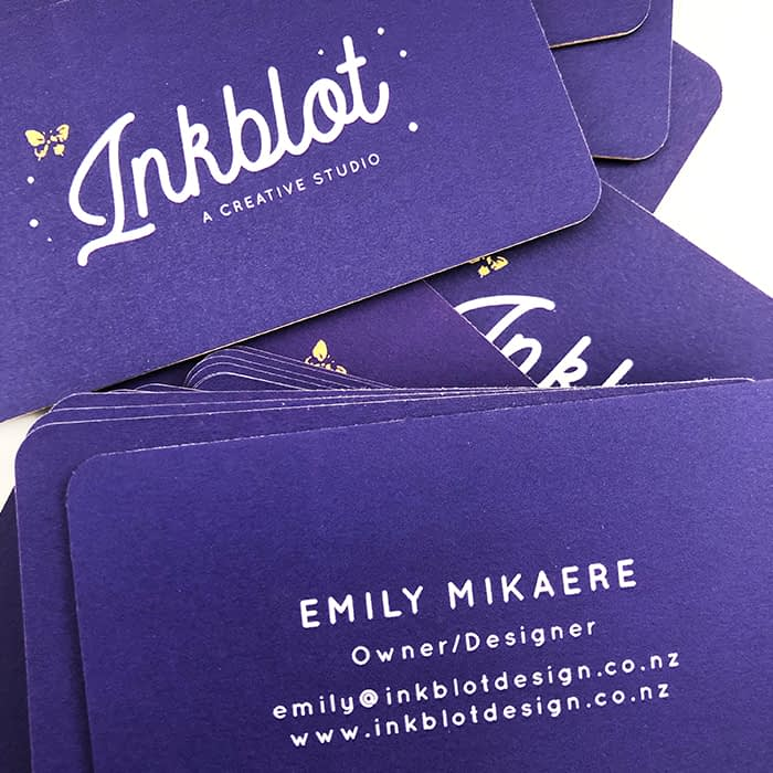 Inkblot thick business cards