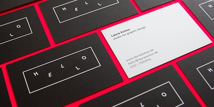 Monochrome Laura Asmus business cards
