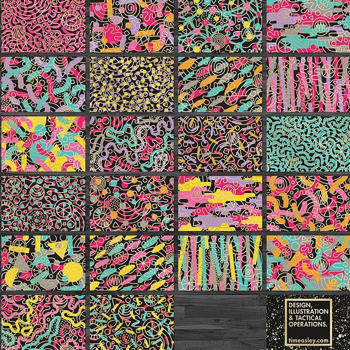 Various designs by Tim Easley with Printfinity